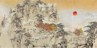 Soaring through Heaven by Zheng Li contemporary artwork works on paper