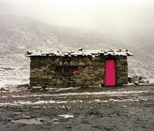 The Flowing Rainbow, Cabin on Sichuan-Tibet Road -Zheduo Mountain by Xiong Wenyun contemporary artwork