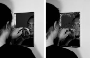 Stealing a Mirror by Jonny Lyons contemporary artwork