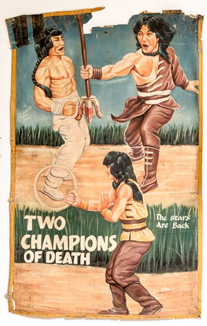 Two Champions of Death by D.A. Jasper contemporary artwork painting