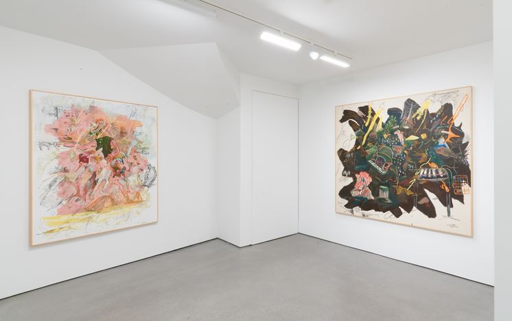 Exhibition view: Lilah Rose, Golden Spike, Simcowitz, Los Angeles (15 May–5 June 2021). Courtesy Simchowitz.