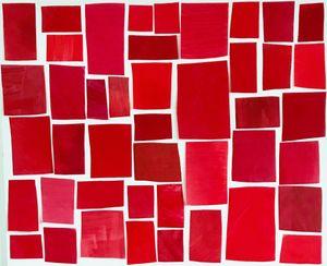 Color Study - Red Regatta by Melissa McGill contemporary artwork