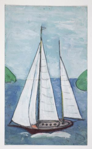 White Yacht by Frank Walter contemporary artwork