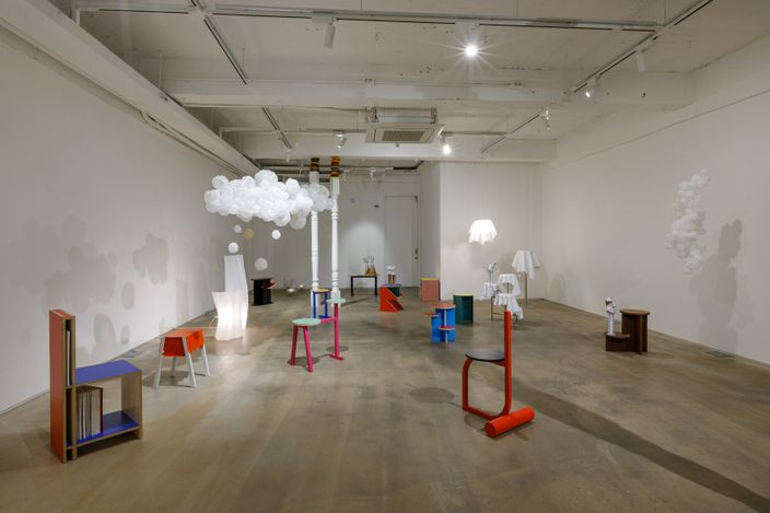 Exhibition view: Group Exhibition,from the Ceiling, on the Floor, SPACE SO, Seoul (8 April–9 May 2021). Courtesy SPACE SO.