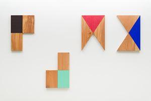 Relief (Pine and Kuroshu); Relief (Pine and Rokushō); Relief (Pine and Shinsha); Relief (Pine and Gunjō) by Susumu Koshimizu contemporary artwork