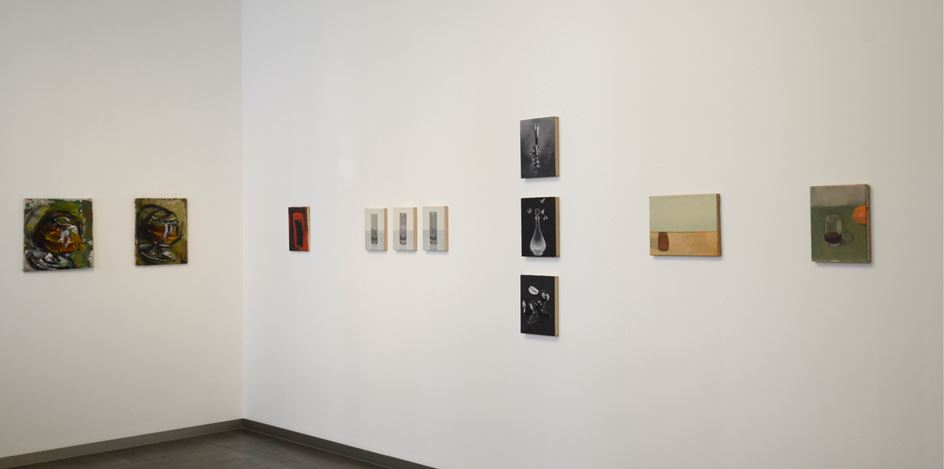 Exhibition view: Group exhibition, Secret of Things. Painted Pieces,Beck & Eggeling International Fine Art, Düsseldorf (16 November 2018–2 February 2019). Courtesy Beck & Eggeling International Fine Art.