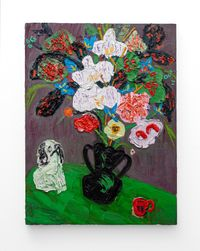 Essential Classics (Staffordshire and Orchid) by Georgina Gratrix contemporary artwork painting, works on paper