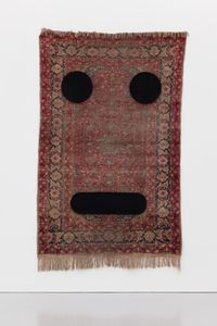 Carpet Face #3 by Peter Liversidge contemporary artwork textile