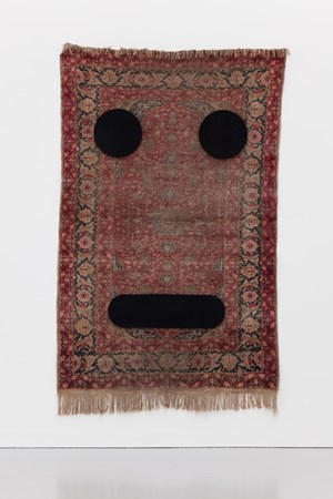 Carpet Face #3 by Peter Liversidge contemporary artwork