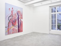"""Julian Schnabel<br><em>Jack Climbed Up the Beanstalk to the Sky of Illimitableness Where Everything Went Backwards</em><br><span class=""""oc-gallery"""">Almine Rech</span>"""