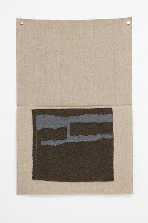 Dark blackish green, light grayish blue (dsh) by Helen Mirra contemporary artwork