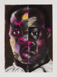 Split Face by Nathaniel Mary Quinn contemporary artwork painting, works on paper, drawing