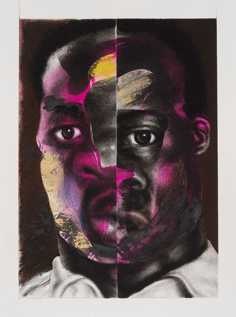 Split Face by Nathaniel Mary Quinn contemporary artwork