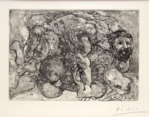 Le viol VII by Pablo Picasso contemporary artwork