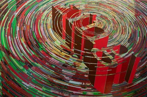 Untitled (Spin Painting) by Andrew Kaufman contemporary artwork