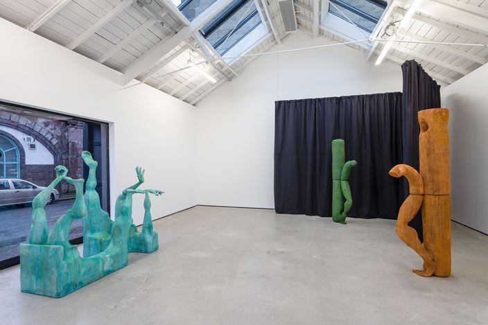Exhibition view:Jesse Wine, Carve a hole in the rain for yer, The Modern Institute, Osborne Street, Glasgow (8 February–13 March 2021). Courtesy the Artist and The Modern Institute/Toby Webster Ltd, Glasgow. Photo: Patrick Jameson.