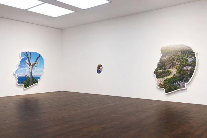 Exhibition view: Alex Israel,Always On My Mind, Gagosian, Grosvenor Hill, London (16 January–14 March 2020). Artwork © Alex Israel. Courtesy Gagosian. Photo: Lucy Dawkins.