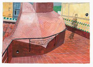 Barcelona, Vila de Gràcia by Marc Desgrandchamps contemporary artwork