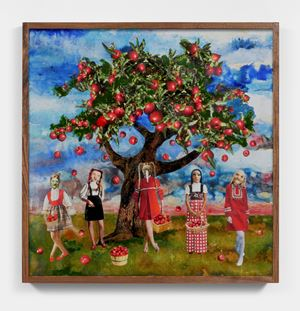 Gathering Apples on a Sunny Day by Marnie Weber contemporary artwork