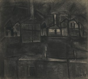 Houses by S. H. Raza contemporary artwork