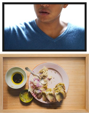 The Artichoke Eater (first date) by Trevor Yeung contemporary artwork