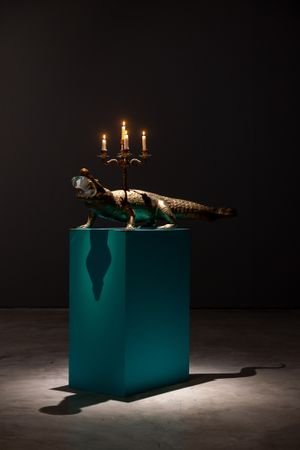 Candlestick With Crocodile by Su Meng-Hung contemporary artwork sculpture