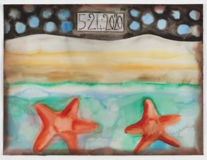 5-24-2020 by Francesco Clemente contemporary artwork