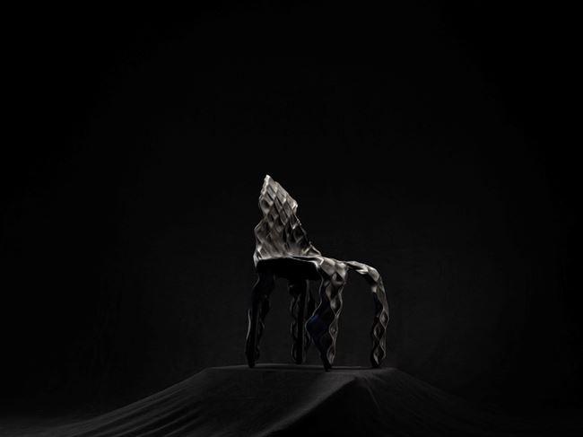 Ngumu Janka Warnti (All Made from Rubbish) Chair (Black) by Johnny Nargoodah & Trent Jansen contemporary artwork