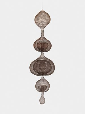 Untitled (S.142, Hanging Five-Lobed, Multi-Layer Continuous Form within a Form) by Ruth Asawa contemporary artwork