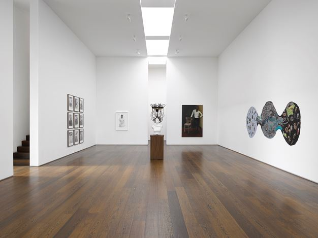 Exhibition view: Group Exhibition,Rock My Soul, Victoria Miro, Wharf Road, London (2 October–2 November 2019).© The artists. Courtesy the artists and Victoria Miro.
