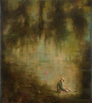 Beneath the grey calm of the cloud by Christopher Orr contemporary artwork painting