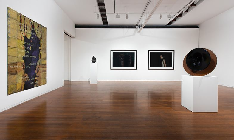 Exhibition view: Group Exhibition, The Like Button, Roslyn Oxley9 Gallery, Sydney (13 December 2018–19 January 2019). Courtesy Roslyn Oxley9 Gallery. Photo: Luis Power.