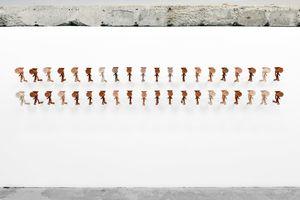 Corps D'Argile (20 pieces) by M'barek Bouhchichi contemporary artwork