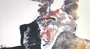 Double Rocks by Chuang Che contemporary artwork painting, works on paper, drawing