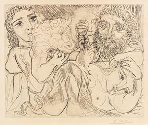 Marie-Thérèse rêvant de métamorphoses by Pablo Picasso contemporary artwork