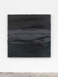 Untitled (Lamp Black/Graphite Grey/Prussian Blue) by Jason Martin contemporary artwork painting