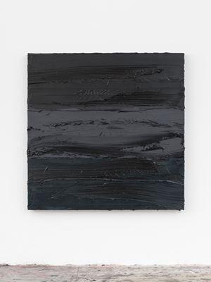 Untitled (Lamp Black/Graphite Grey/Prussian Blue) by Jason Martin contemporary artwork