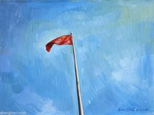 National Flag by Liu Weijian contemporary artwork