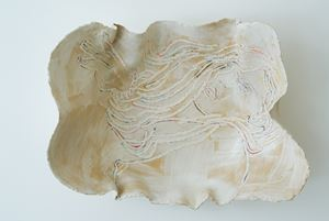 The White Plate by Ghada Amer contemporary artwork