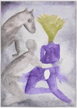 A Story Well Told XIV by Francesco Clemente contemporary artwork