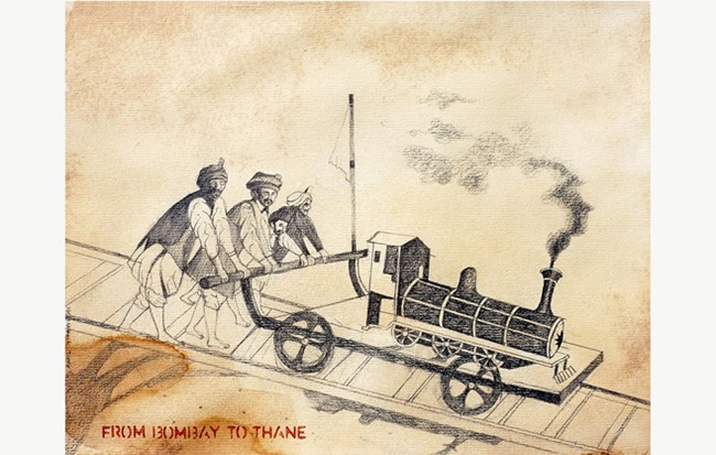 From Bombay to Thane by Anil Thambai contemporary artwork