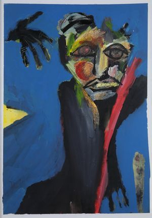 Ein Fremder (A Stranger) by David Lehmann contemporary artwork painting, works on paper, drawing