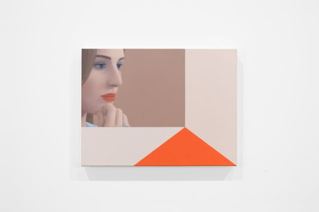 Portrait, Tan and Orange by Ridley Howard contemporary artwork