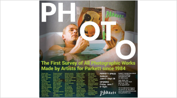 Contemporary art exhibition, Group Exhibition, PHOTO: The First Survey of All Photographic Works Made by Artists for Parkett since 1984 at Parkett, Zurich Exhibition Space