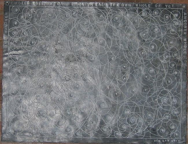 One hundred holes within one whole, each its own whole of yet another whole by Bob Law contemporary artwork