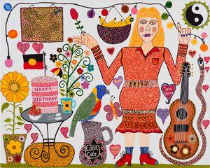 Dolly's Birthday by Kaylene Whiskey contemporary artwork