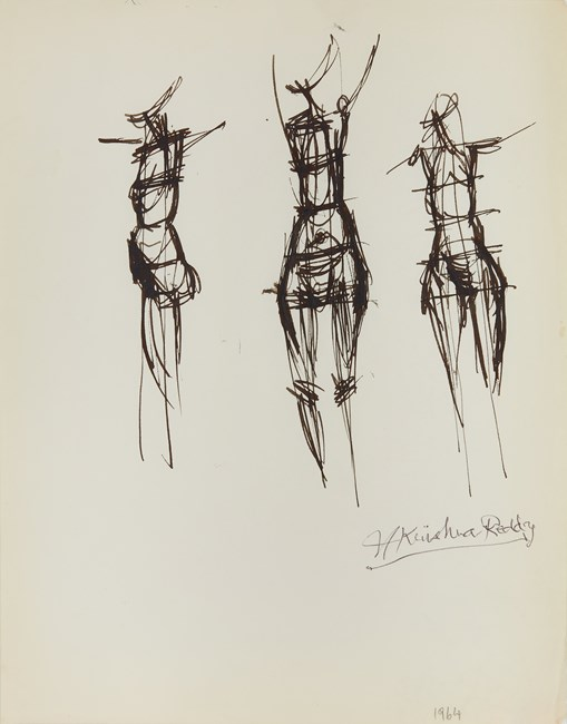 Drawing 62 by Krishna Reddy contemporary artwork