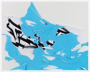 Blue - come - back (Rabbia Odio) by Rebecca Moccia contemporary artwork