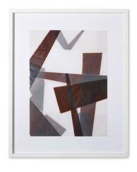 Faltungen Braun by Beat Zoderer contemporary artwork mixed media