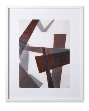 Faltungen Braun by Beat Zoderer contemporary artwork